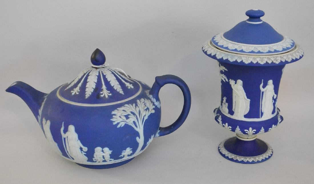3 pieces of Porcelain; 1 Royal Vienna compote with - 14