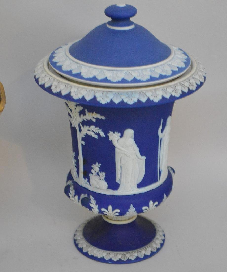 3 pieces of Porcelain; 1 Royal Vienna compote with - 2
