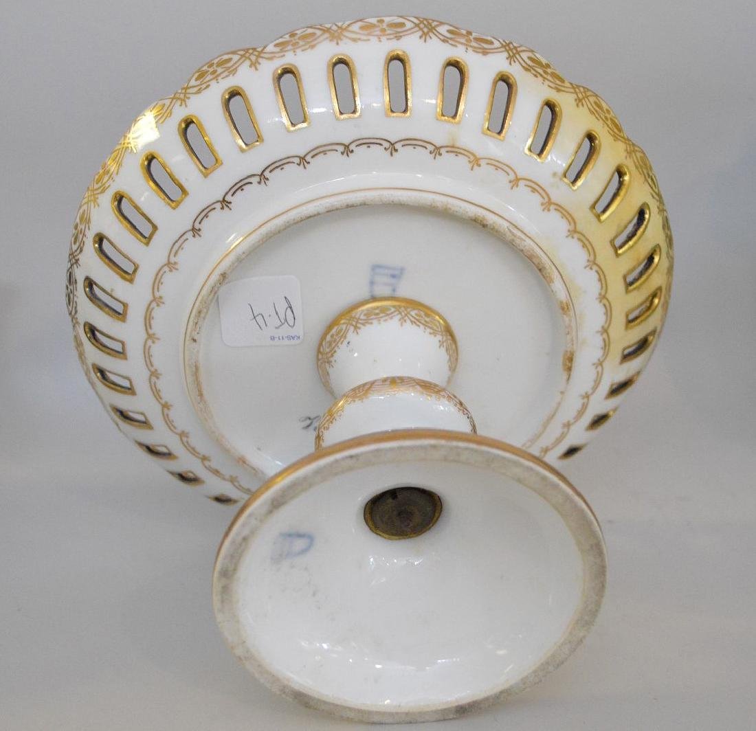 3 pieces of Porcelain; 1 Royal Vienna compote with - 8