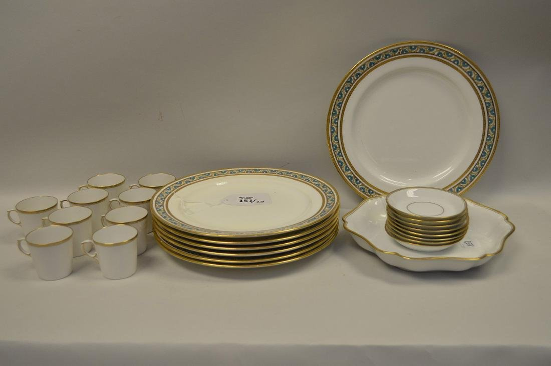 7 dinner plates by Minton for Tiffany