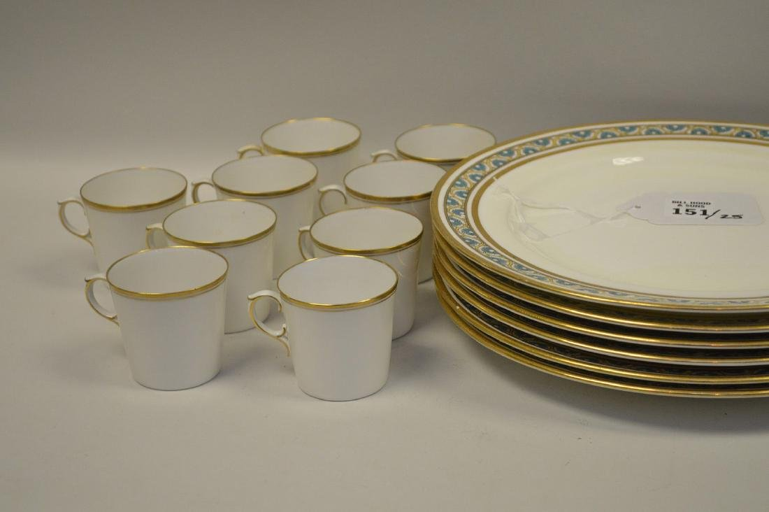 7 dinner plates by Minton for Tiffany - 2