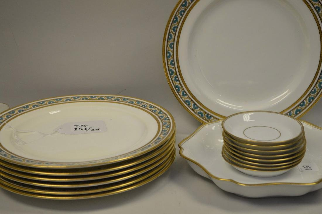 7 dinner plates by Minton for Tiffany - 3