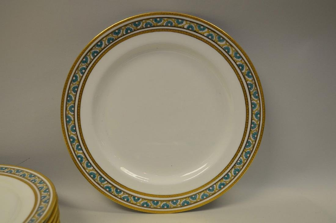 7 dinner plates by Minton for Tiffany - 4