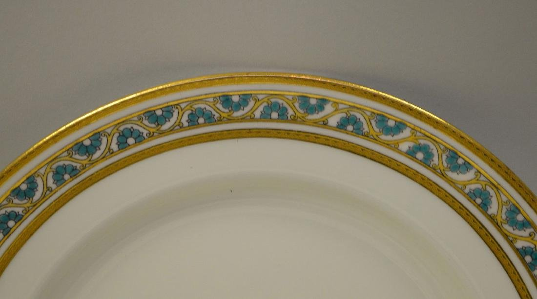 7 dinner plates by Minton for Tiffany - 5