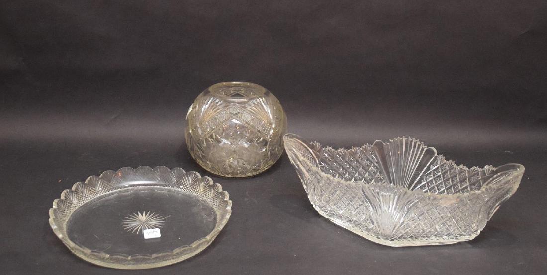 Cut glass brilliant period fruit bowl centerpiece (5