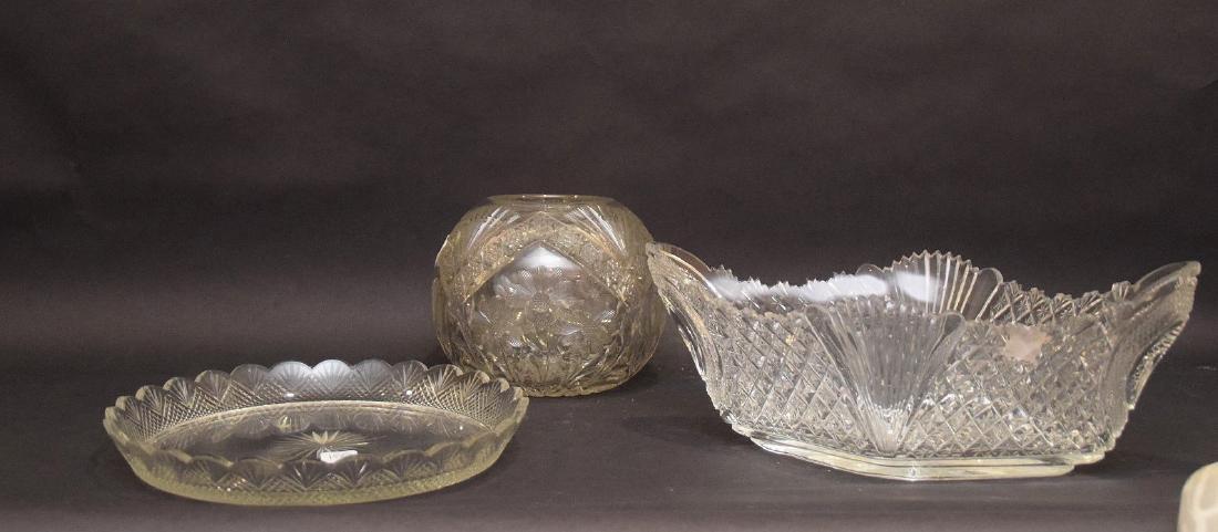 Cut glass brilliant period fruit bowl centerpiece (5 - 2