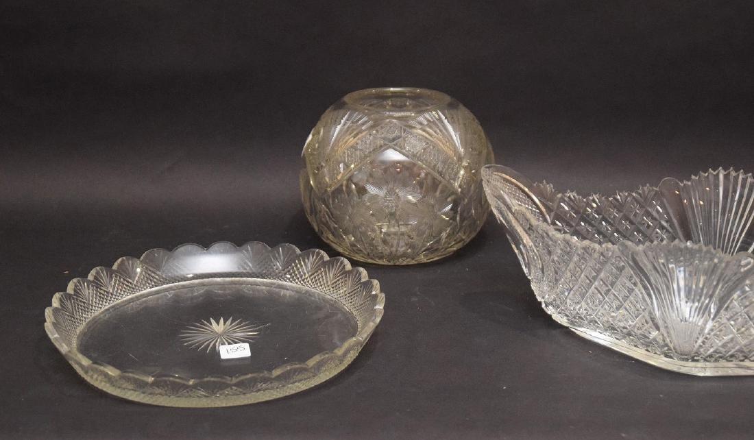 Cut glass brilliant period fruit bowl centerpiece (5 - 4