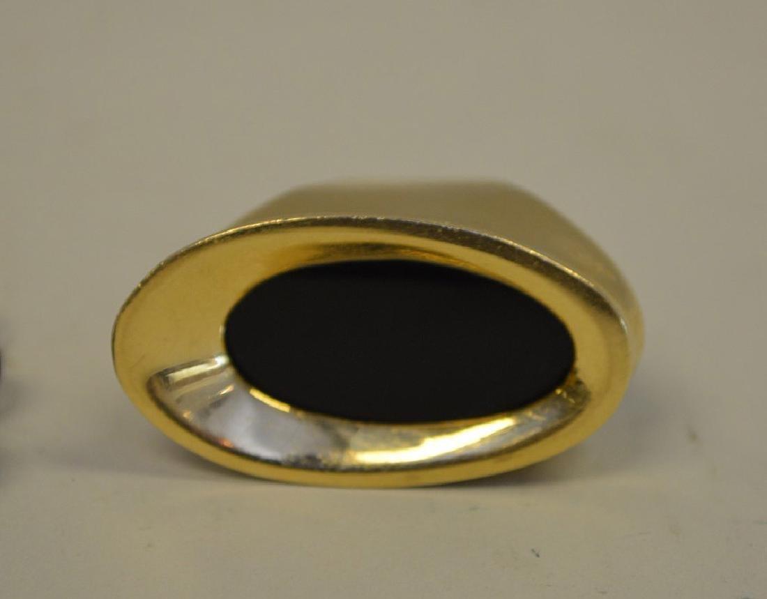 Black onyx ring, 14kt gold and beaded bracelet - 2