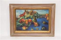 Philip Evergood (American 1901 - 1973) Oil on canvas,