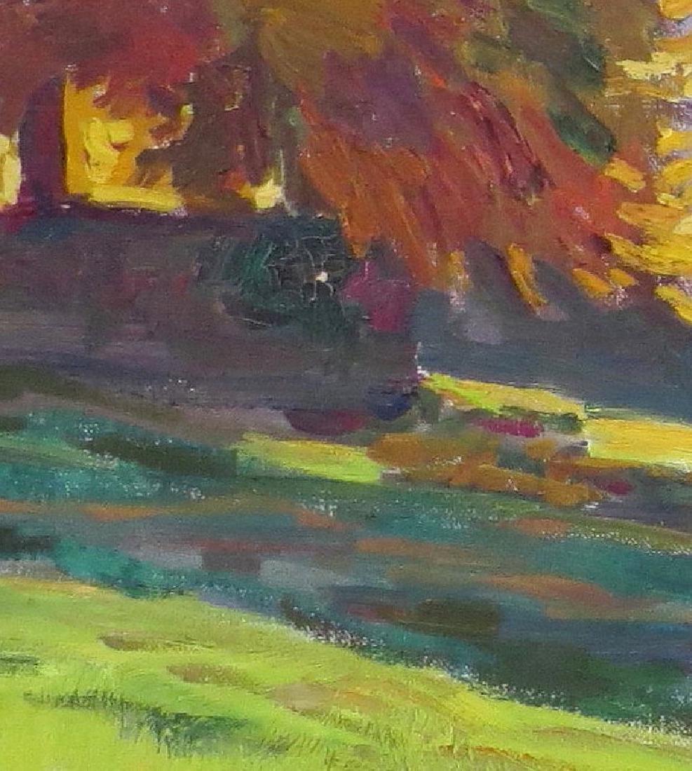 """HANS B. WIELAND (Swiss, 1867-1945), Oil/Canvas, """"Autumn - 2"""