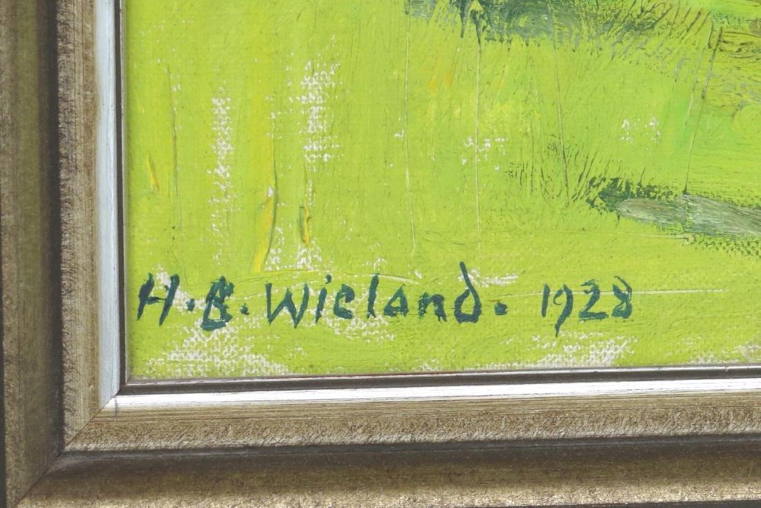 """HANS B. WIELAND (Swiss, 1867-1945), Oil/Canvas, """"Autumn - 3"""
