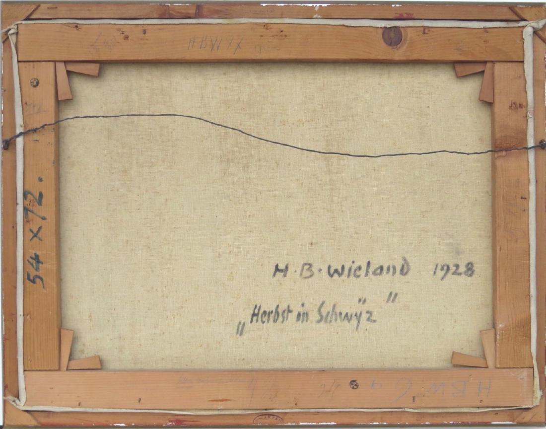 """HANS B. WIELAND (Swiss, 1867-1945), Oil/Canvas, """"Autumn - 4"""