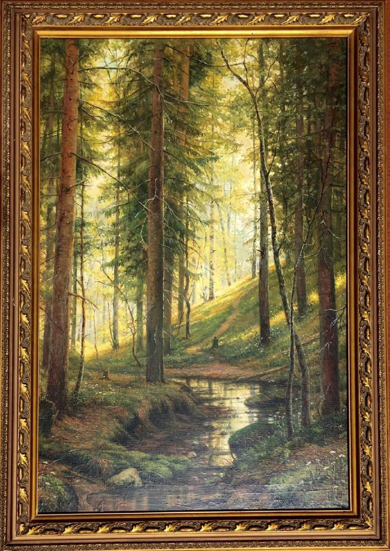Attributed to Ivan Shishkin (RUSSIAN, 1832-1898) oil on