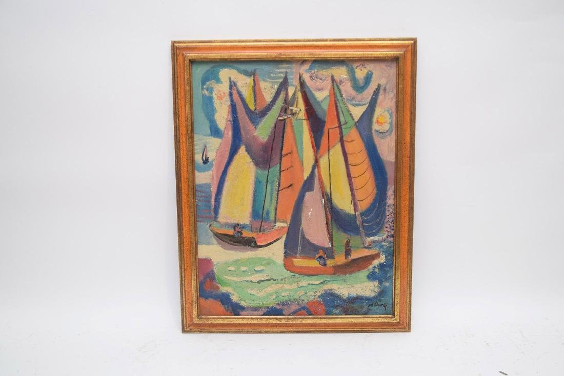 Nathaniel Dirk Am. Modernist Sailboats - 2