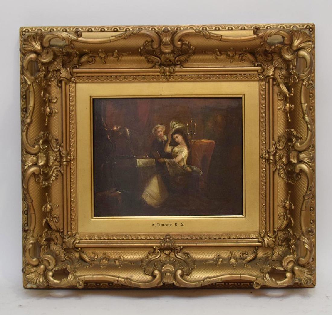 Alfred Elmore  (United Kingdom 1815 - 1881)  oil on