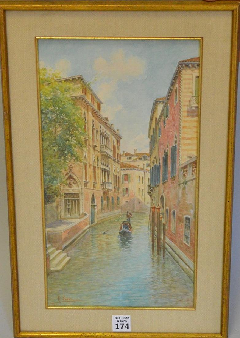 Rafael Senet y Perez  (Italian 1856 - 1926) Watercolor