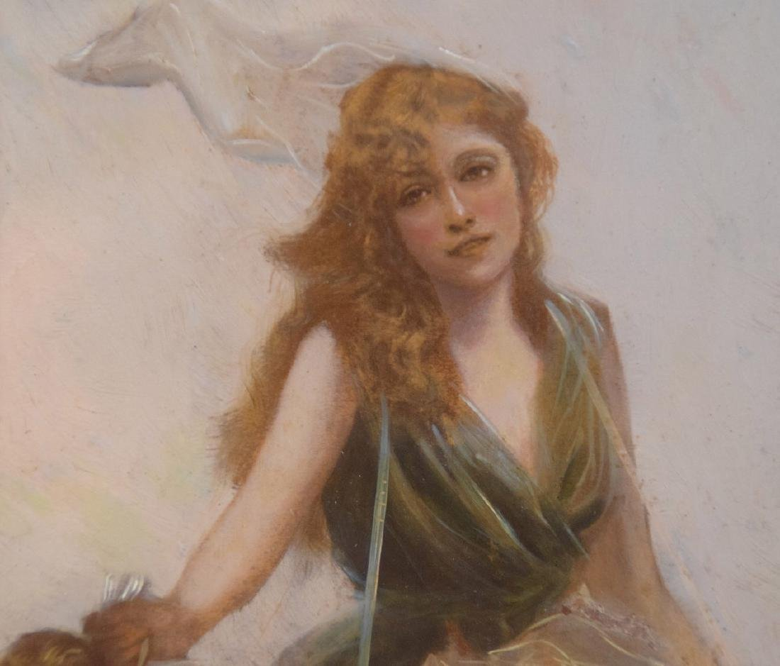 Edouard Bisson  (France 1856 - 1939) oil on panel, - 2