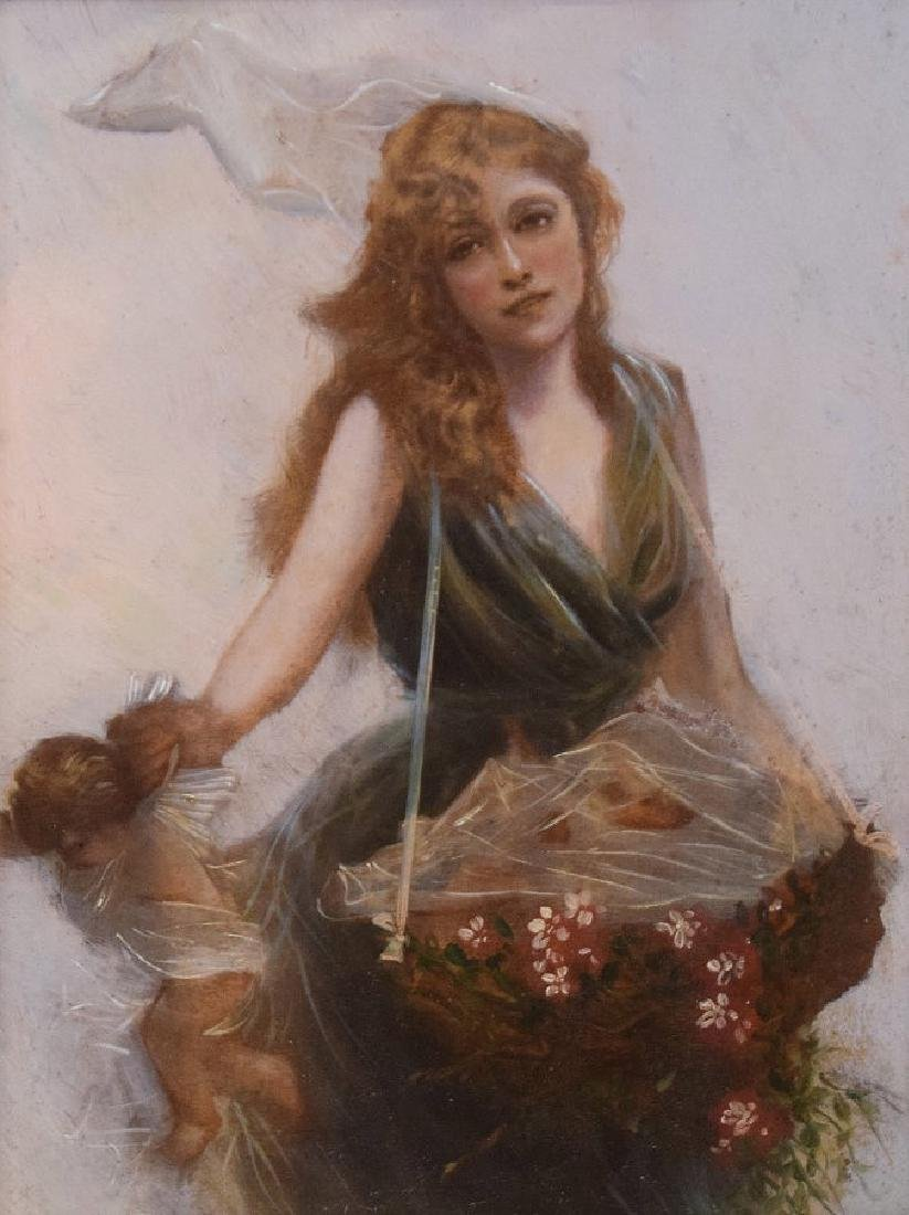 Edouard Bisson  (France 1856 - 1939) oil on panel, - 3