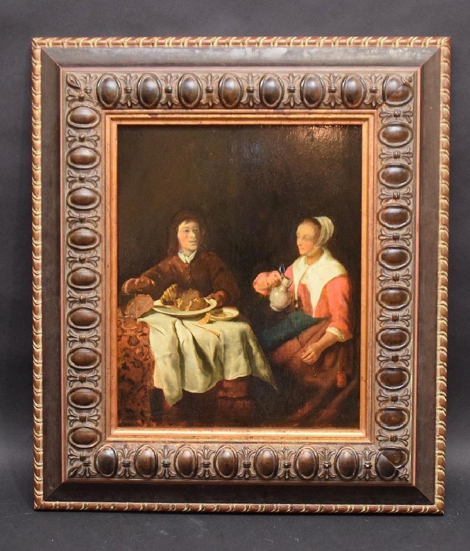 Cornelis Pietersz Bega  (Holland 1631/32 - 1664) oil on