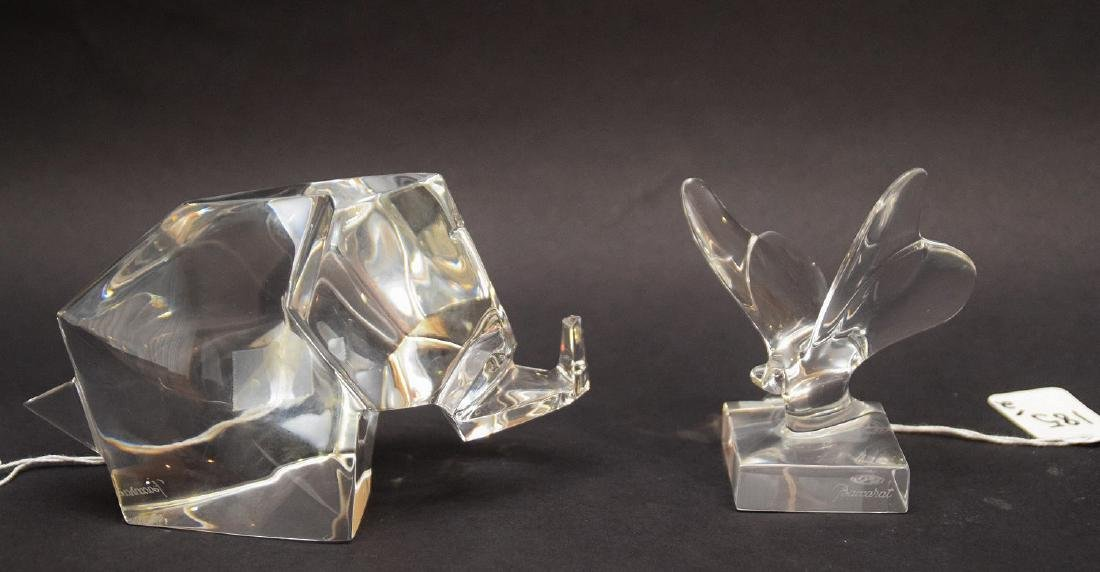 2 BACCARAT PAPERWEIGHTS.  1 Elephant.  Condition: good - 4