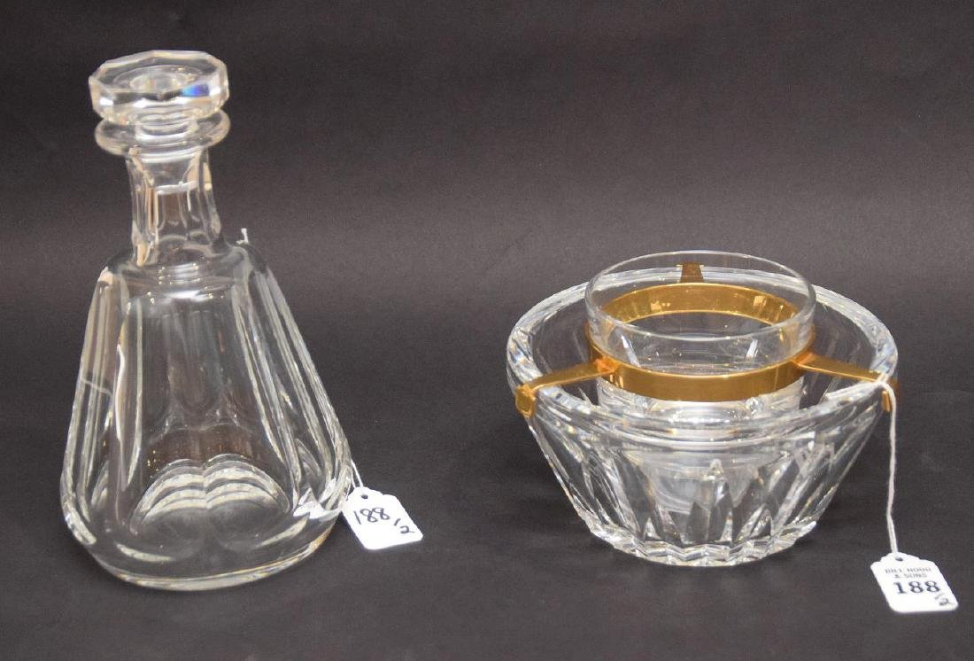 TWO BACCARAT ARTICLES.  1 DECANTER. Condition: good