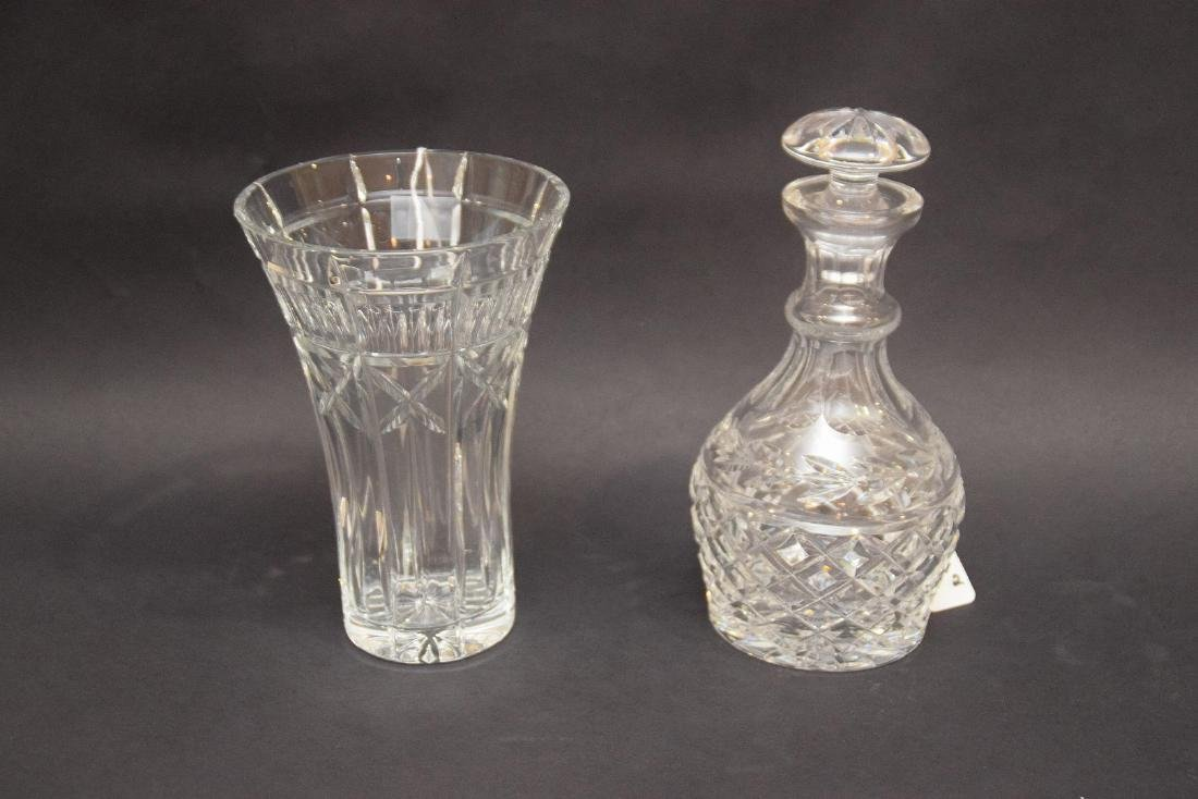 "2 WATERFORD ARTICLES.  1 WATERFORD DECANTER Ht. 9 1/2"", - 3"