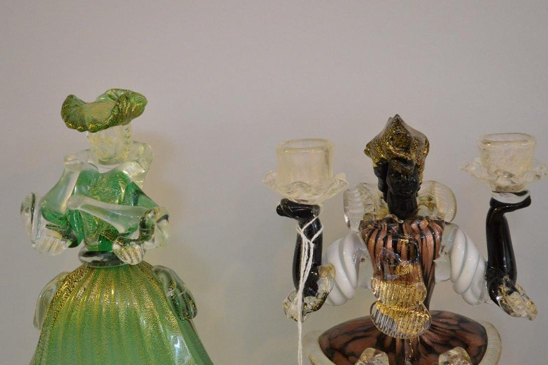 3 MURANO GLASS FIGURES.  2 Figures Man and Woman Ht. - 2
