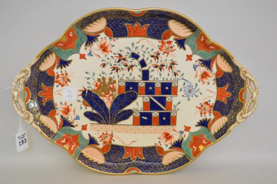 Copland Imari Porcelain Platter.  Condition: good for