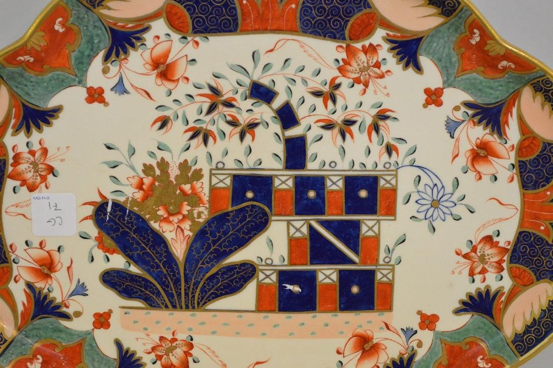 Copland Imari Porcelain Platter.  Condition: good for - 2