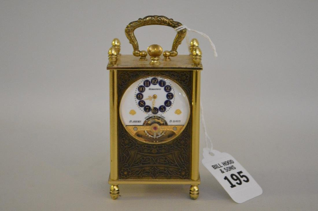 SWISS 8 DAY CLOCK BY HEBDOMAS with fusee movement.