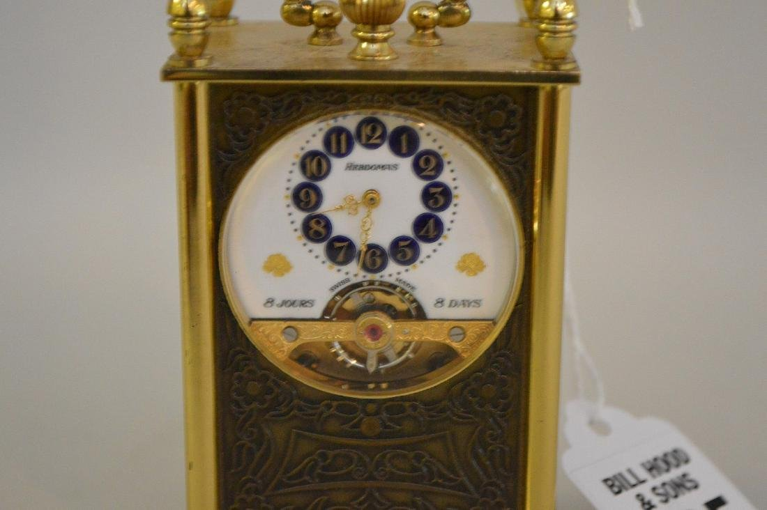 SWISS 8 DAY CLOCK BY HEBDOMAS with fusee movement. - 2
