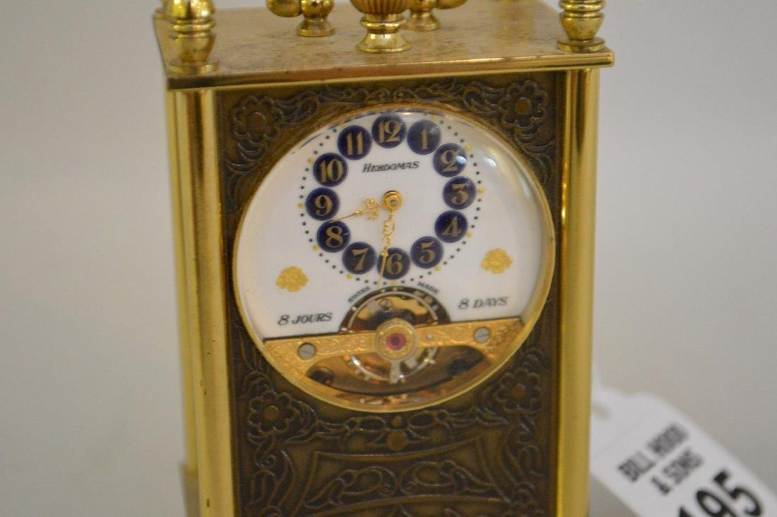 SWISS 8 DAY CLOCK BY HEBDOMAS with fusee movement. - 3