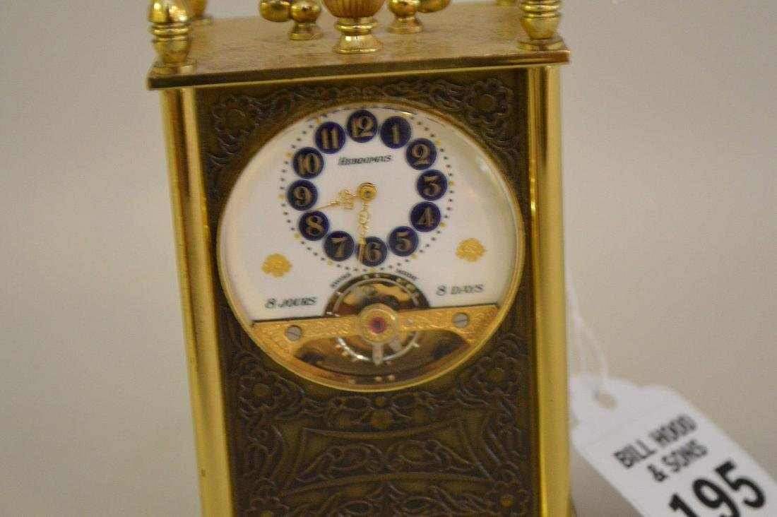 SWISS 8 DAY CLOCK BY HEBDOMAS with fusee movement. - 4