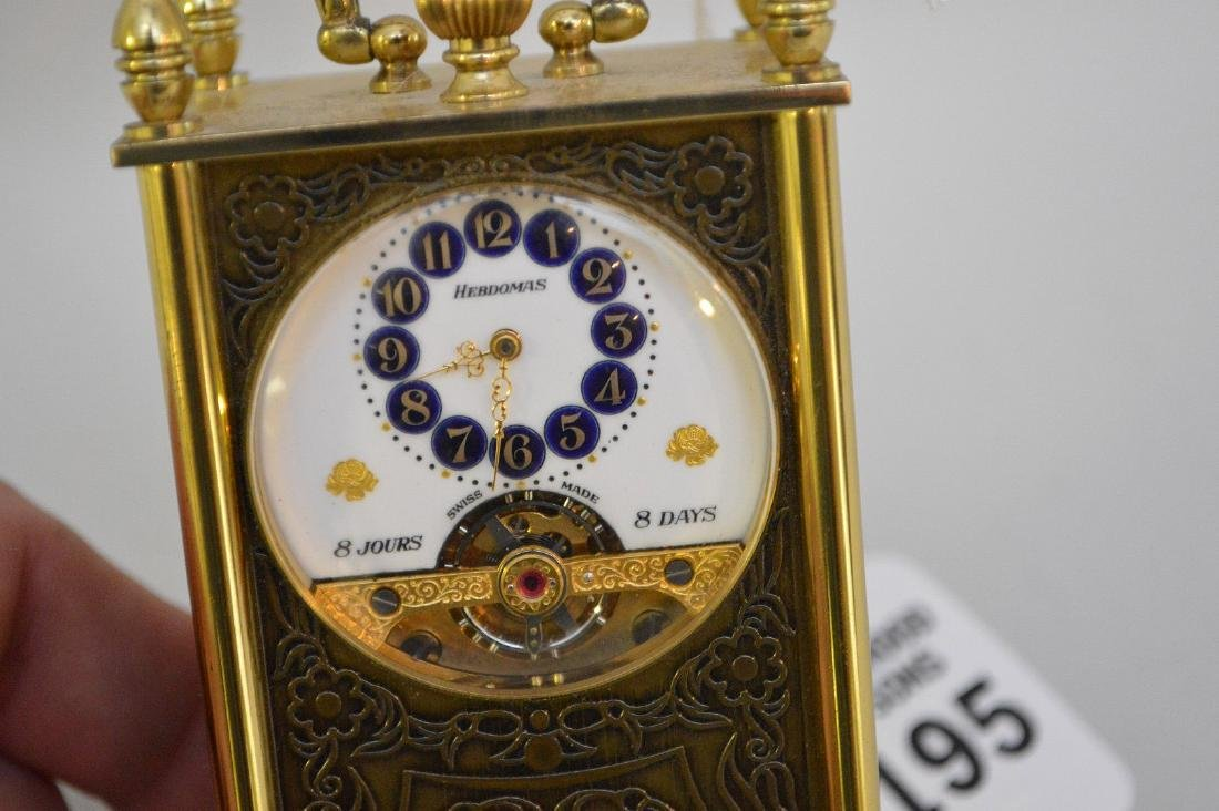 SWISS 8 DAY CLOCK BY HEBDOMAS with fusee movement. - 6