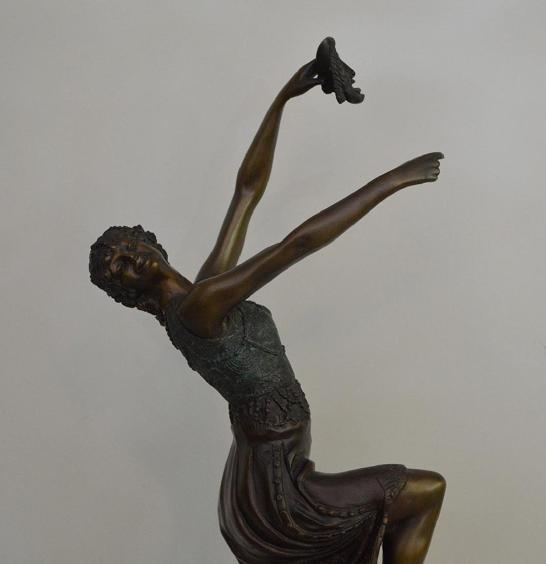 "BRONZE SIGNED J. DESCOMBS.  "" the Comedy Dancer"" - 2"