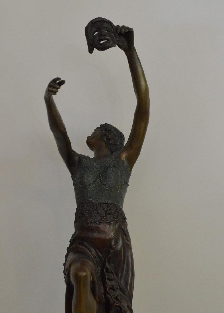 "BRONZE SIGNED J. DESCOMBS.  "" the Comedy Dancer"" - 3"