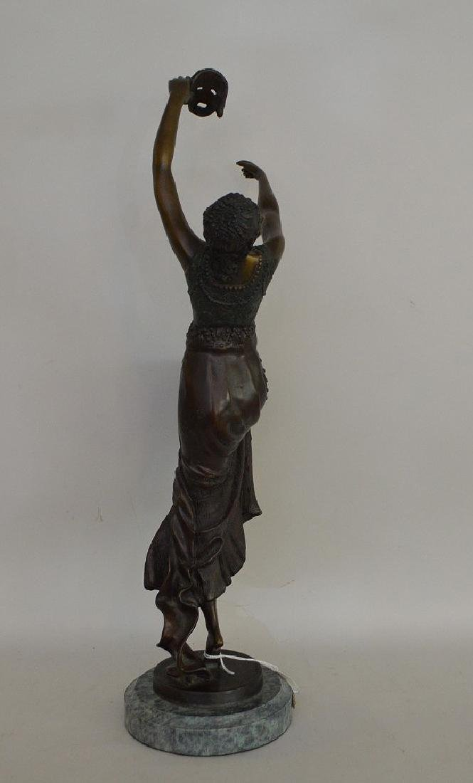 "BRONZE SIGNED J. DESCOMBS.  "" the Comedy Dancer"" - 4"