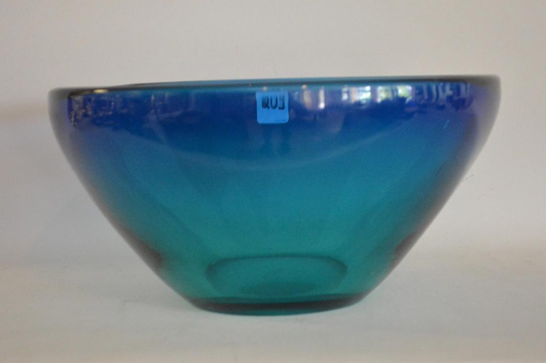 "MURANO GLASS BOWL.  Condition: good. Ht. 6"" Dia. 12"". - 2"