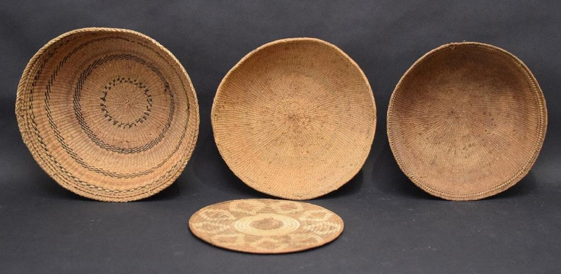 3 Indian baskets and one flat piece - 2