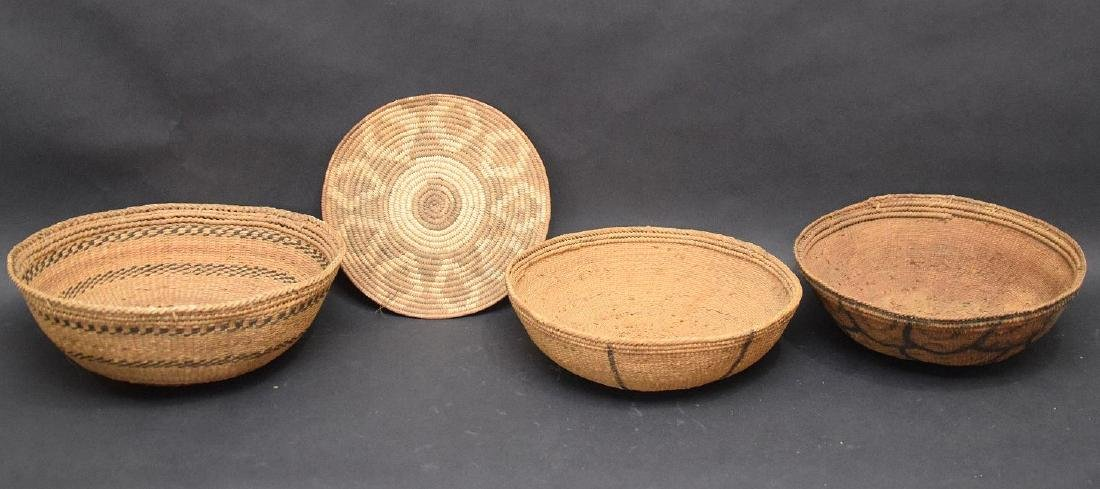 3 Indian baskets and one flat piece - 3