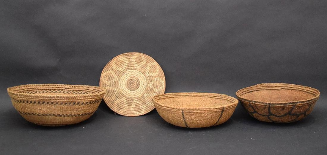 3 Indian baskets and one flat piece - 4