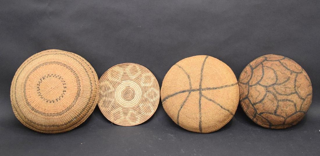 3 Indian baskets and one flat piece - 5