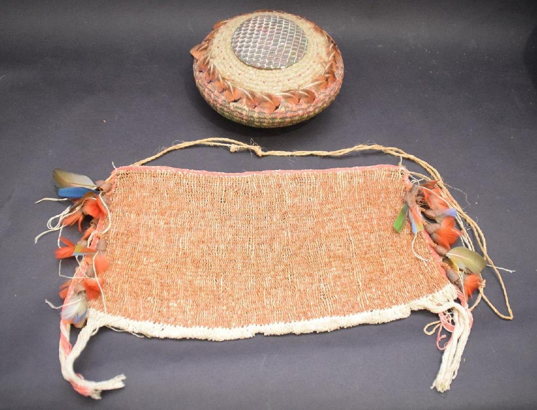 loin cloth with feather decoration and hand painted