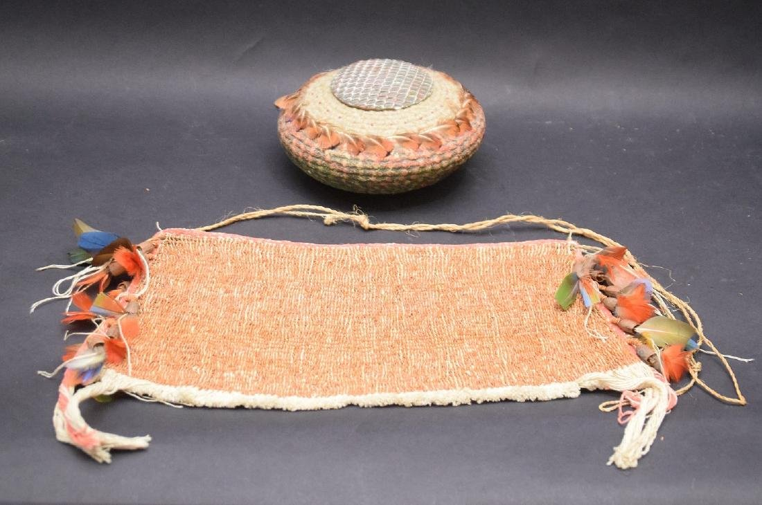 loin cloth with feather decoration and hand painted - 2