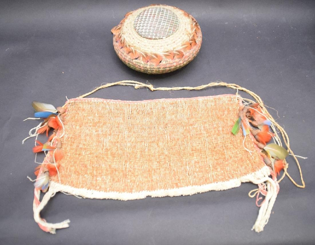 loin cloth with feather decoration and hand painted - 3