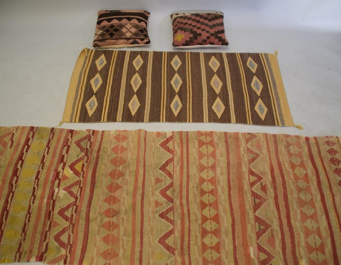 2 Flat weave Rugs sold with 2 kilim pillows - 2