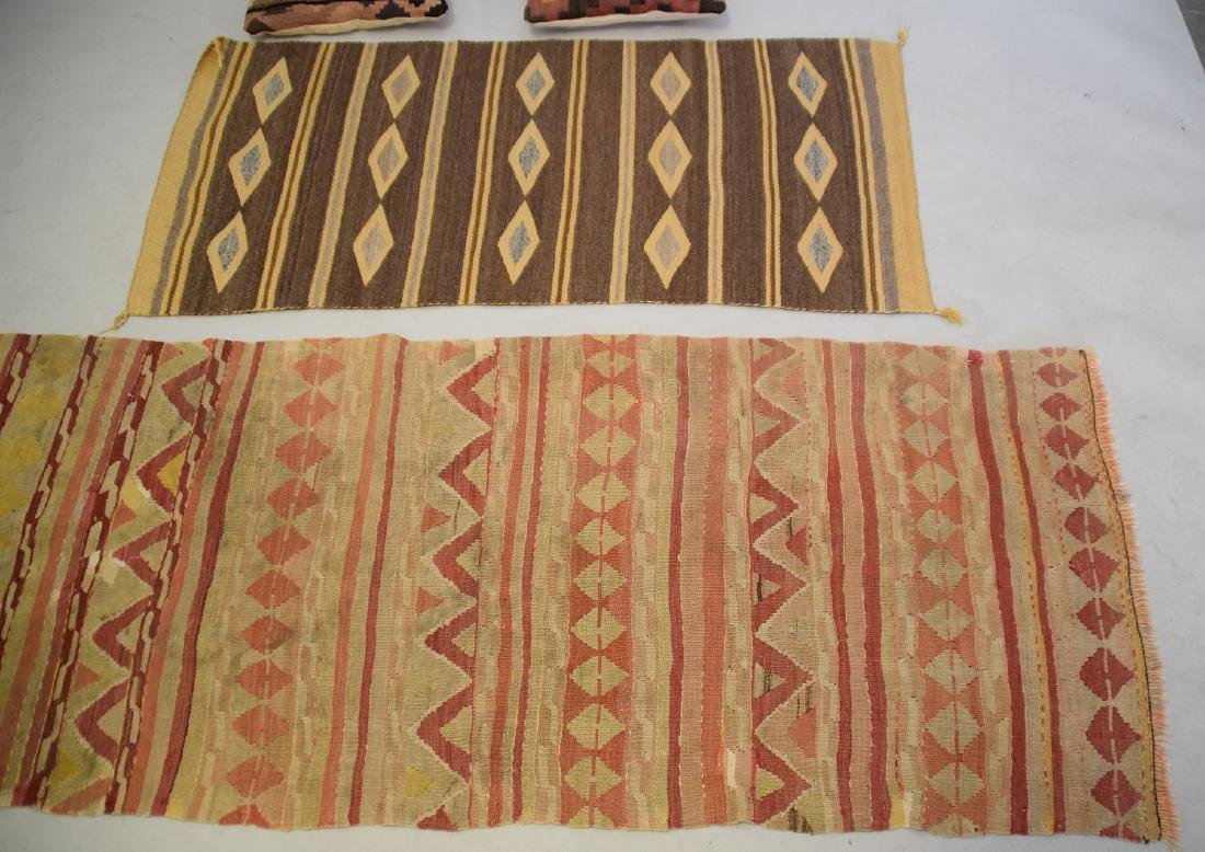 2 Flat weave Rugs sold with 2 kilim pillows - 3