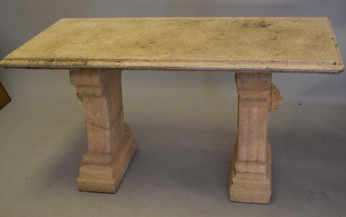 Cement console table, 60L x 27W x 32Tall