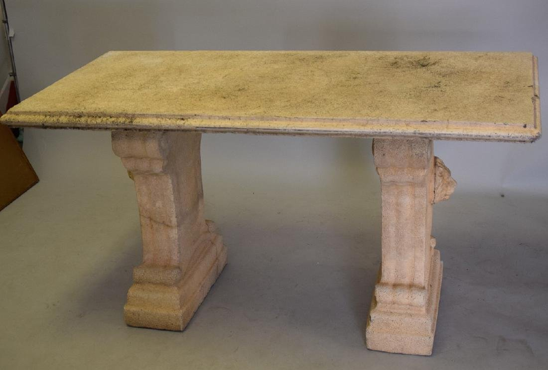 Cement console table, 60L x 27W x 32Tall - 2