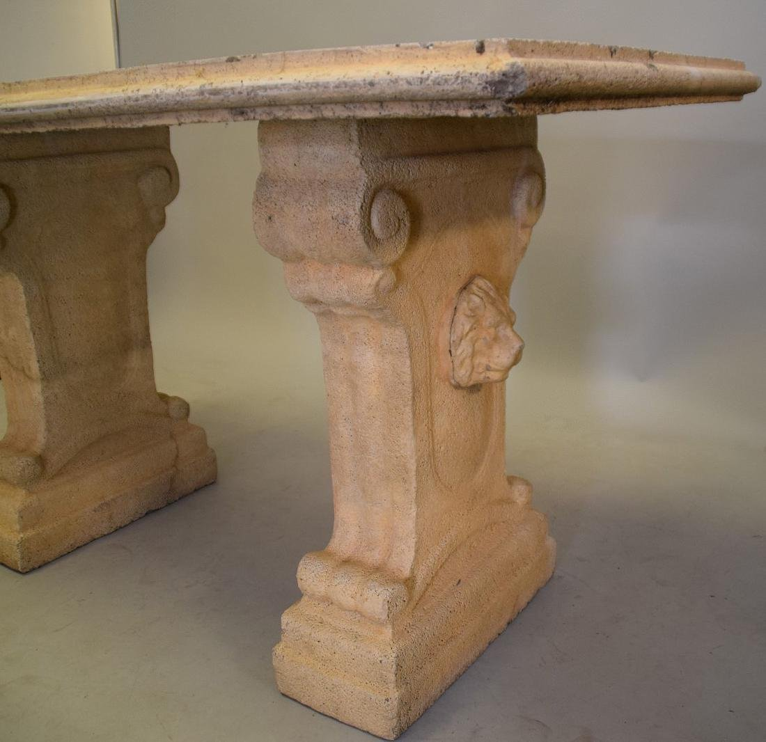 Cement console table, 60L x 27W x 32Tall - 4
